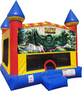 Hulk Inflatable bounce house with Basketball Goal