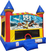 Ice Age Inflatable bounce house with Basketball Goal