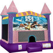 Ice Age Inflatable Bounce house with Basketball Goal Pink
