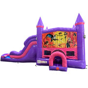 Incredibles Dream Double Lane Wet/Dry Slide with Bounce House
