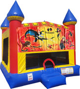Incredibles Inflatable bounce house with Basketball Goal