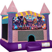Its s Girl Thing Inflatable bounce house with Basketball Goal Pink