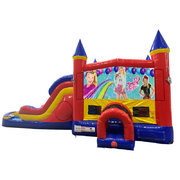 JoJo Siwa Double Lane Dry Slide with Bounce House