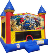 LEGO Ninjago Inflatable bounce house with Basketball Goal