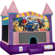LEGO Ninjago Inflatable bounce house with Basketball Goal Pink