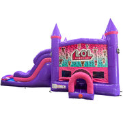 LOL Dream Double Lane Wet/Dry Slide with Bounce House