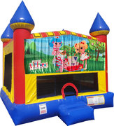 La La Loopsie Inflatable Bounce house with Basketball Goal