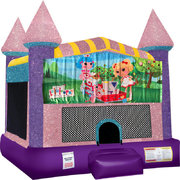 La La Loopsie bounce house with Basketball Goal Pink