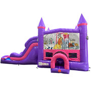 Lady and the Tramp Dream Double Lane Wet/Dry Slide with Bounce House