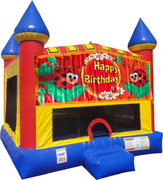 Ladybug Inflatable Bounce house with Basketball Goal