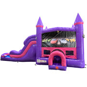 Lamborghini Dream Double Lane Wet/Dry Slide with Bounce House