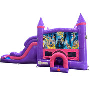 Looney Tunes Dream Double Lane Wet/Dry Slide with Bounce House