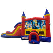 Looney Toons Double Lane Water Slide with Bounce House