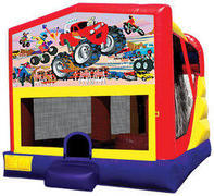 Monster Truck (1) 4in1 Inflatable bounce house combo