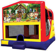 My Little Farm 4in1 Inflatable bounce house combo