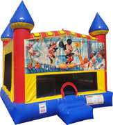 Mickey Mouse Inflatable bounce house with Basketball Goal