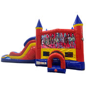 Monster High Double Lane Water Slide with Bounce House