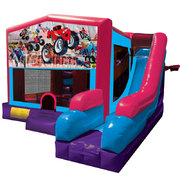 Monster Truck 1 Inflatable Pink Combo 7in1