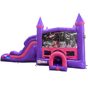Monster Truck 2 Dream Double Lane Wet/Dry Slide with Bounce House