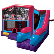 Monster Truck 2 Inflatable Pink Combo 7in1
