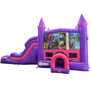 Monsters Inc Dream Double Lane Wet/dDry Slide with Bounce House