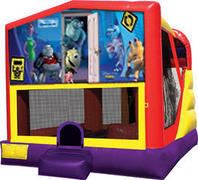 Monsters Inc 4in1 Bounce House Combo