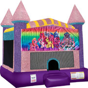 My Little Pony Inflatable bounce house with Basketball Goal Pink