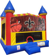 NOLA Inflatable bounce house with Basketball Goal