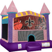 NOLA Inflatable bounce house with Basketball Goal Pink