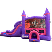 NOLA Dream Double Lane Wet/Dry Slide with Bounce House