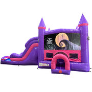 Nightmare Before Christmas Dream Double Lane Wet/Dry Slide with Bounce House