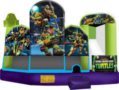 A-Ninja Turtles 5in1 Inflatable Bounce House Combo