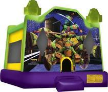 A Ninja turtles inflatable bounce house