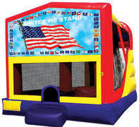 Patriotic 4in1 Inflatable bounce house combo