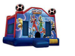 A-Power Rangers Inflatable bounce house