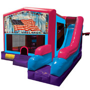 Patriotic Inflatable Pink Combo 7in1