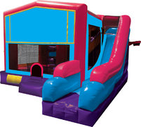 A 7in1 Module Bounce House Combo Pink
