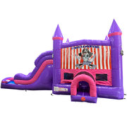 Pirates Adventure Dream Double Lane Wet/Dry Slide with Bounce House
