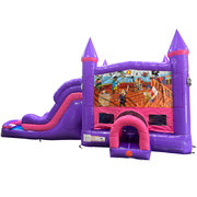 Pirates Dream Double Lane Wet/Dry Slide with Bounce House