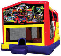 Race Cars 4in1 Inflatable bounce house combo