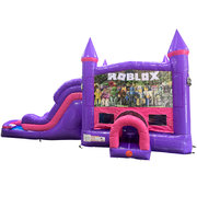 Roblox Dream Double Lane Wet/Dry Slide with Bounce House