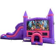 Rock Star Dream Double Lane Wet/Dry Slide with Bounce House