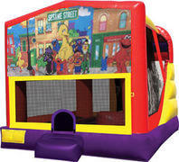 Sesame Street 4in1 Inflatable bounce house combo