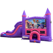 Shimmer and Shine Dream Double Lane Wet/Dry Slide with Bounce House