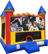 Space Kids Inflatable bounce house with Basketball Goal