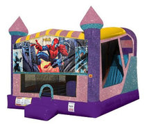 Spiderman 4in1 Combo Bouncer Pink