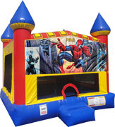 Spiderman Inflatable bounce house with Basketball Goal