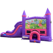 Spongebob Dream Double Lane Wet/Dry Slide with Bounce House