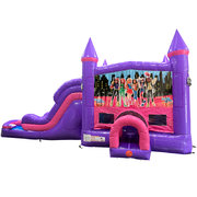 Super Girls Dream Double Lane Wet/Dry Slide with Bounce House Combo