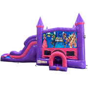 Super Mario Brothers Dream Double Lane Wet/Dry Slide with Bounce House